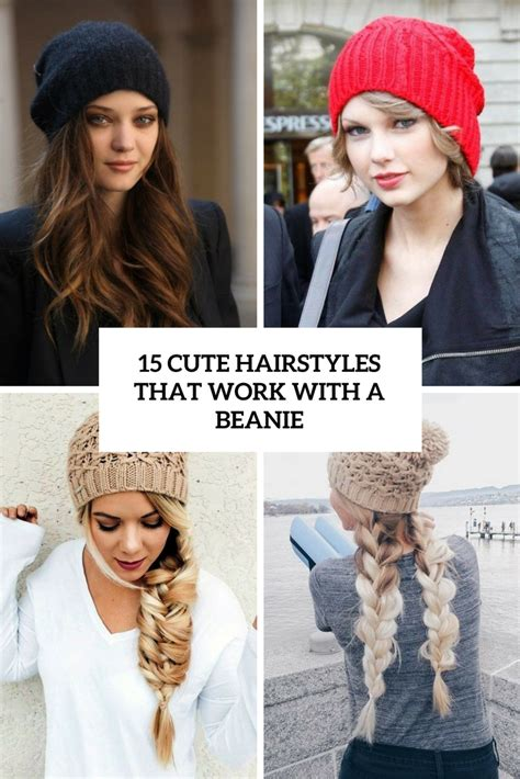 15 cute hairstyles that work with a beanie styleoholic