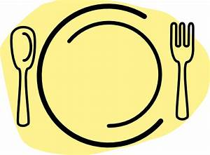 Iammisc Dinner Plate With Spoon And Fork Clip Art at Clker ...