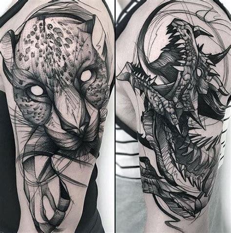 sketch tattoos  men artistic design ideas