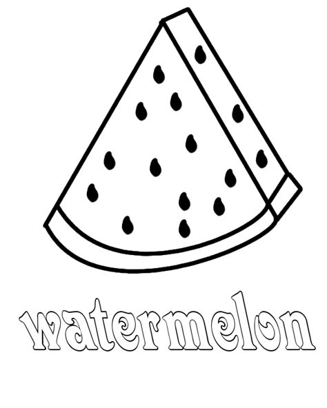 watermelon coloring page az pages sketch coloring page