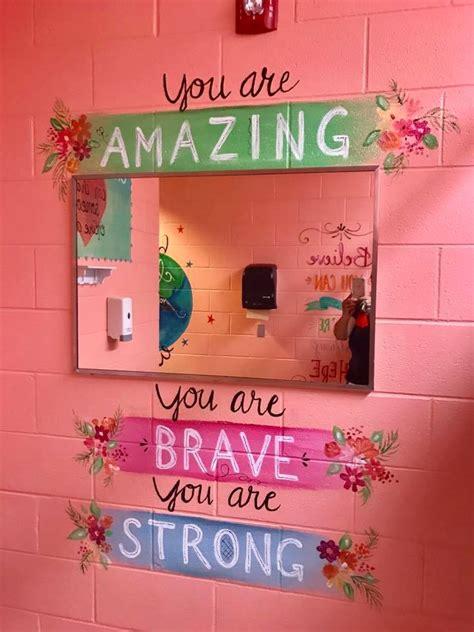 bathroom murals    messages teenage girls