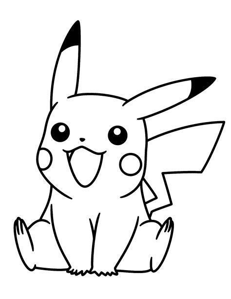 pikachu drawing coloring pages bubakidscom