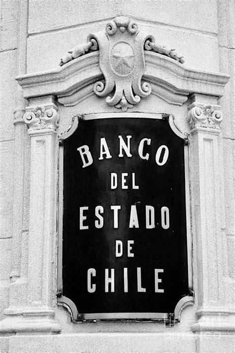 plaque of banco del estado de chile chilean state bank ...