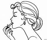 Coloring Makeup Face Sheets Barbie Printable Disimpan Animage Dari sketch template
