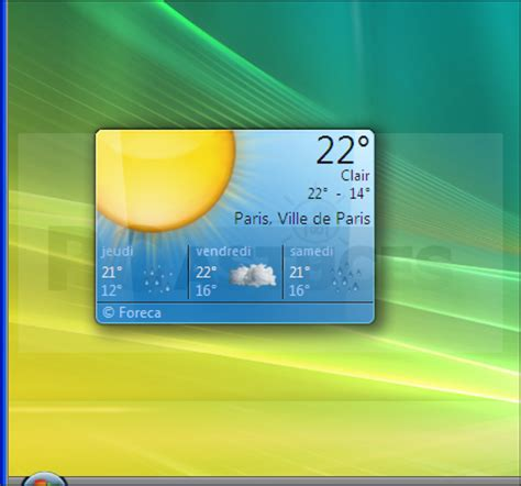 afficher meteo sur bureau windows 7 telecharger gadget meteo bureau gratuit 28 images vuln
