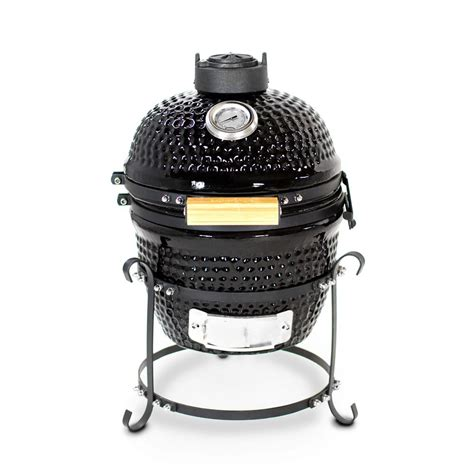 kamado grills louisiana grills k13 ceramic kamado charcoal grill in black 61130 the home depot