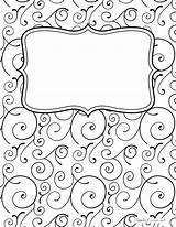 Binder Printable Covers Templates Swirl Bindercovers Coloring Notebook Template Portadas Journal Border Borders Negro Designs Blanco Printables Cuaderno Cuadernos Pdf sketch template