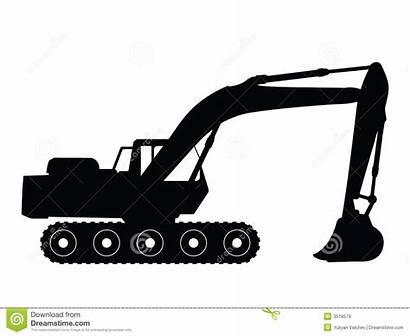 Excavator Clipart Vector Clip Bucket Backhoe Silhouette