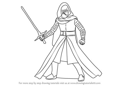 Learn How to Draw Kylo Ren from Star Wars (Star Wars) Step ...