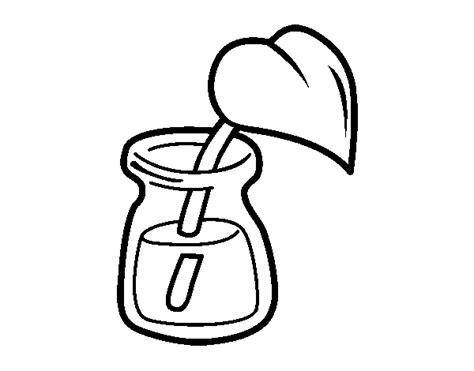 Disegni Di Bicchieri by Disegno Di Foglia In Un Bicchiere Da Colorare Acolore