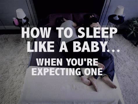 How To Sleep Like A Baby When You're Expecting One