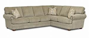 Traditional 2 piece sectional sofa by klaussner wolf and for 2 pieces sectional sofa