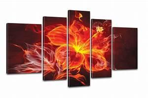 Stier Bilder Auf Leinwand : kreativer kunstdruck fire flower 170x100cm auf leinwand ~ Whattoseeinmadrid.com Haus und Dekorationen