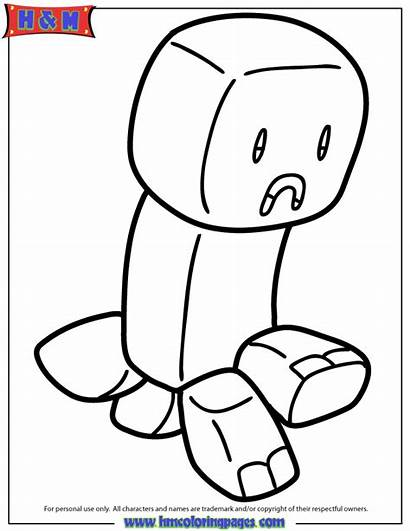 Minecraft Coloring Creeper Herobrine Ausmalbilder Printable Zum
