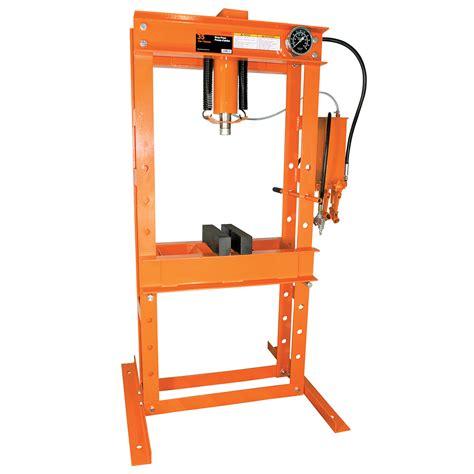 strongarm shop presses 35 ton air hydraulic shop press heavy duty surewerx