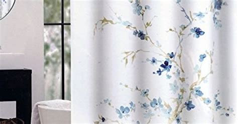 Tahari Home Curtains Blue by Tahari Fabric Shower Curtain And Light Blue Floral