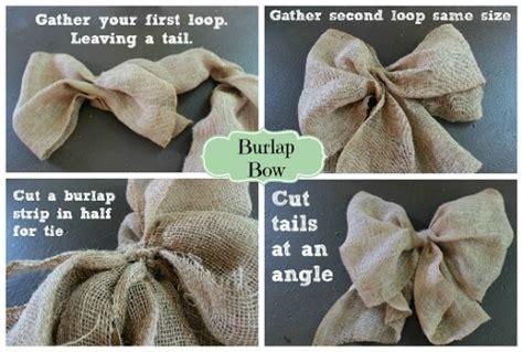 hometalk making  burlap bow