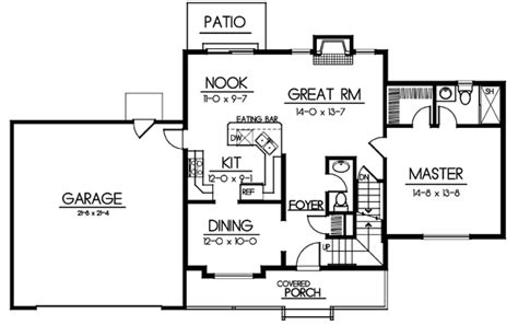 Traditional Style House Plan 91609 with 4 Bed 3 Bath 2