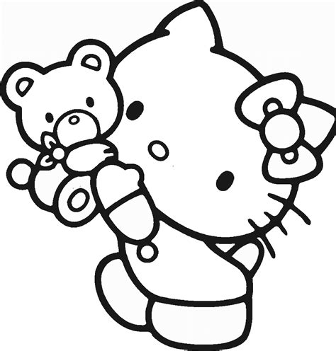 Hello Kitty Coloring Pages Birthday Printable
