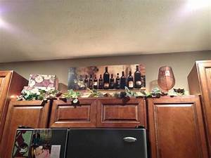 parisian wine kitchen decor with nice lighting and writing With kitchen cabinets lowes with wall art wine theme