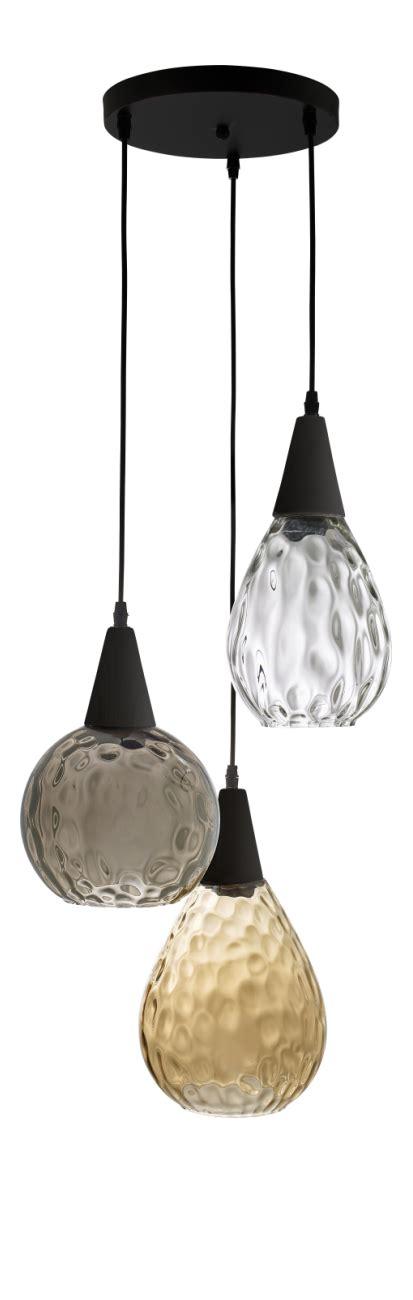 ivana lampara de techo de vidrio tricolor habitat