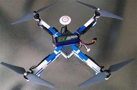diy drone  frame  lego bricks fast agile high flying gopro carrying lightweight drone