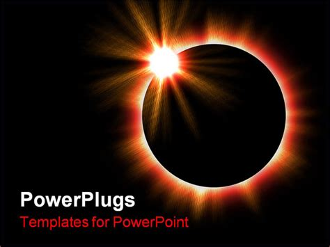 eclipse modify templates powerpoint template a shot of a complete solar eclipse in