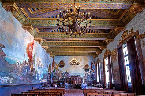 santa barbara courthouse mural room santa barbara la recs