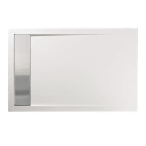 piatto doccia acciaio piatto doccia 100x90 cm in acrilico con canalina acciaio