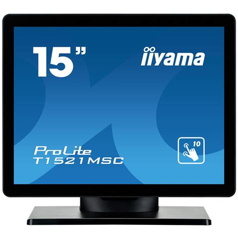 pc bureau ecran tactile iiyama 15 quot led tactile prolite t1521msc b1 ecran pc