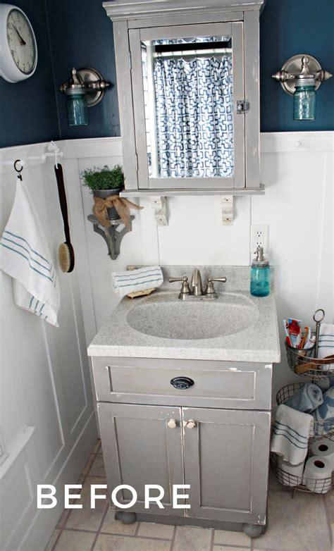 small bathroom ideas  vintage decor robb restyle
