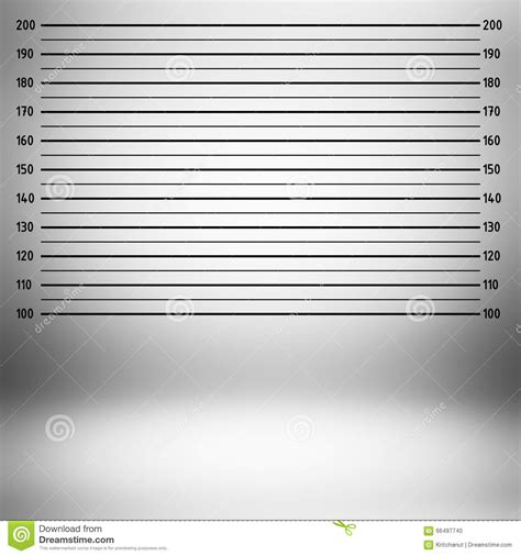 Police Lineup Background Vector Illustration