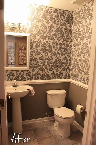 Bathroom Downstairs Chair Rail Gray Bathrooms Designs