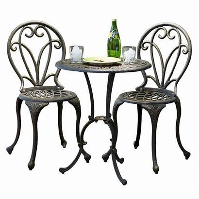 Patio Bistro Cast Outdoor Aluminum Chairs Table