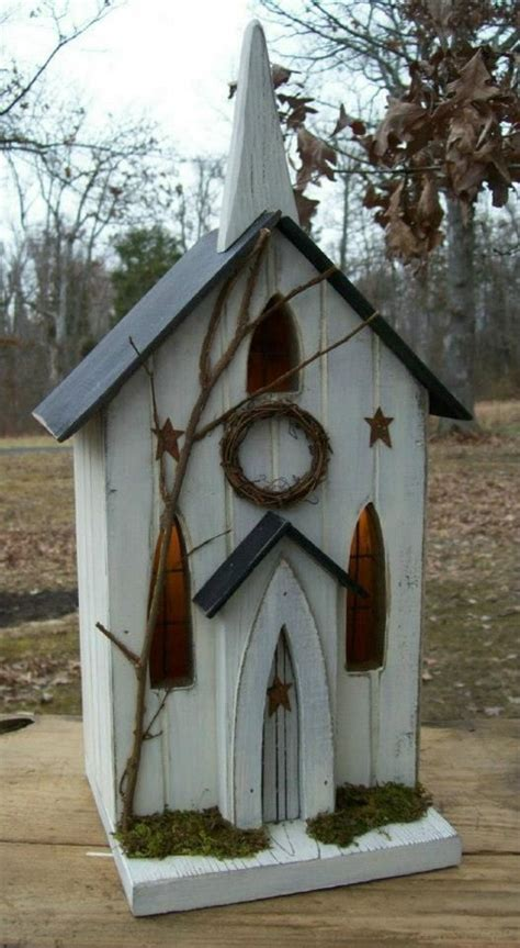 Church Primitive Birdhouse Rustic