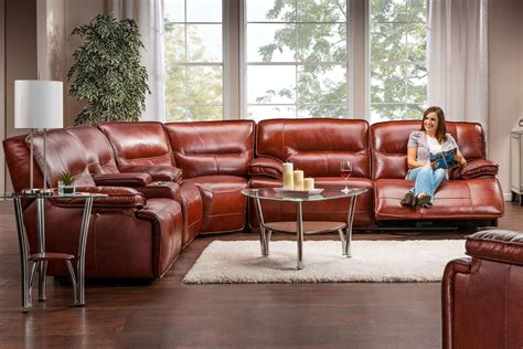 Motorized Recliner Sofa by Leather Power Reclining Sofa At Gardner White