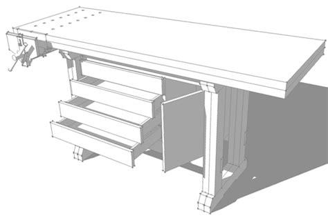 designing  work bench  sketchup
