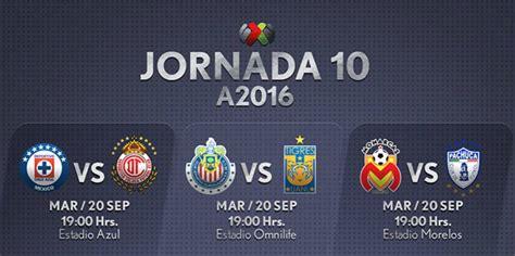 Liga MX Fechas y horarios de la Jornada 10 del Apertura ...