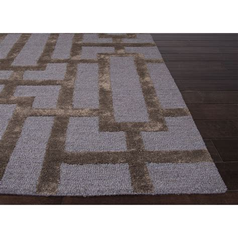 blue modern rug jaipur rugs modern geometric pattern blue brown wool and