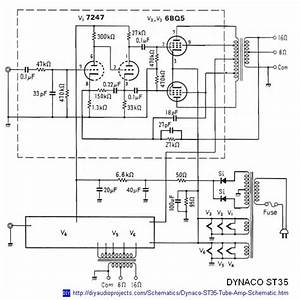 Dynaco Dynakit Stereo 35  St35  Tube Amplifier Schematic