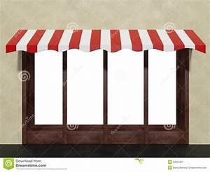 shopboutiquen speichervorderfenster auf lager mit markise With markise balkon mit 3d tapeten shop