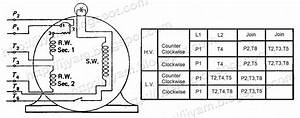Diagram  9 Lead Motor Wiring Diagram Dual Voltage Full