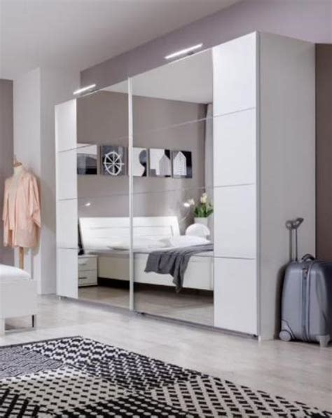 Big Wardrobe With Mirror by Hugos Large Sliding Door Wardrobe Alpine White And Mirrored