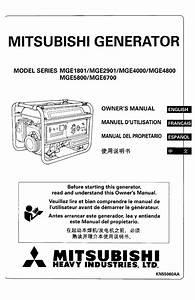 Mitsubishi Manuals  Free Mitsubishi Generator Owners