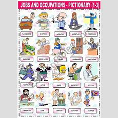 Jobs And Occupations  Pictionary (13)  Esl Worksheet By Katiana