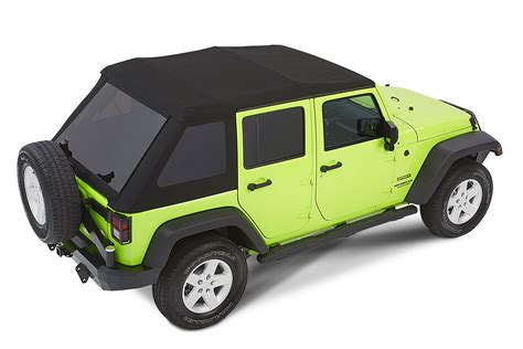 jeep wrangler unlimited soft top bestop 54923 35 trektop nx glide soft top in black
