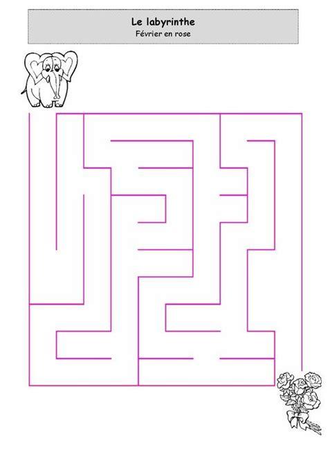 fevrier en rose labyrinthe mazes puzzles