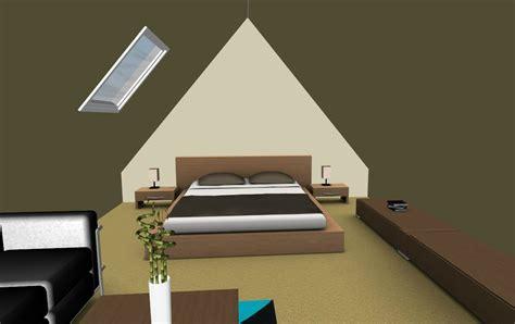chambre vert kaki combles aménagés au dessus d 39 un garage plan b