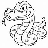 Snake Coloring Pages Cartoon Anaconda Drawing Scary Outline Vector Snakes Printable Python Drawings Sea Illustration Depositphotos Colorings Getdrawings Sararoom Getcolorings sketch template