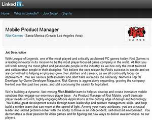 riot games league of legends maker builds mobile team With cover letter for riot games